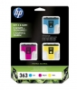 Original 3-Pack Tinte color,  HP No. 363, CB333EE