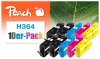 Peach 10er-Pack Tintenpatronen kompatibel zu  HP No. 364