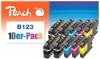 319982 - Peach 10er-Pack Tintenpatronen kompatibel zu LC-123VALBP Brother